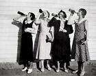 8x10 photo Women chugging beer during prohibition