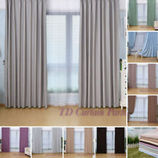 Cotton Blend Modern Window Curtains