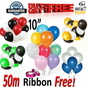 "30 X Latex 10"" inch PLAIN BALOON BALLONS helium BALLOONS Party Bday Wedding"
