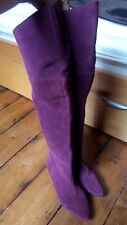 Miss KG RRP£130 Purple Over Knee Boots 5 Thigh High Boho Hippy Vintage 70s Psy
