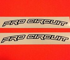 "PRO CIRCUIT Front Fender Medium 8"" Decals Stickers Kawasaki KX 250 450 100 F CRF"