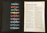 Vintage Ford Thunderbird Print Ad - Showing 1955 to 1963 - Classic Car - 2 Page