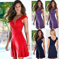 New Women Sleeveless Party Bodycon Sundress Ladies Summer Beach Short Mini Dress