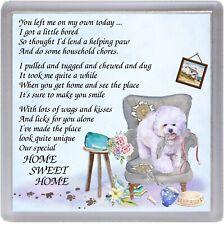 "Bichon Frise Dog Coaster ""HOME SWEET HOME Poem ...."" by Starprint"