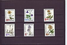 POLAND - SG1750-1755 MNH 1967 PROTECTED FLOWERS