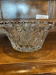 WATERFORD CRYSTAL Cassidy  Xtra Heavy 10 In CENTERPIECE BOWL MINT