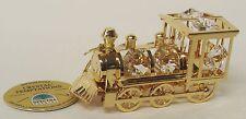 3390 Lok Lokomotive Locomotive Swarovski Steine Kristall 24 Karat Crystal 8cm