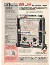 1961 Sencore Model SM112 Service Master VTVM VOM Tester Vtg  Print Ad