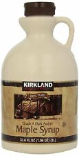100% Pure Grade A Maple Syrup 1 Litre by Kirkland Signature For Toasts Pancakes