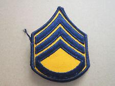 Staff Sergeant Blue Orange Rank Insignia Military Woven Cloth Patch Badge (L1K)