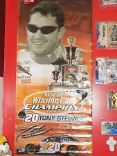 Tony Stewart 2002 Winston Cup Nascar Champion Banner HTF