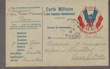 WWI Carte Militaire Gloire aux Armees Alliees! Paris- Forbin caporal Le Companie