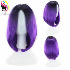 14'' Bobo Straight Synthetic Wig Ombre Cosplay Party Wigs For Full Head Wig