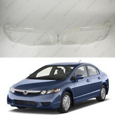 Honda Civic (05-12) OEM Headlight Glass Headlamp Lens Plastic Cover (PAIR)