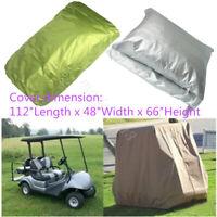 US 4 Passenger Golf Cart Cover Waterproof Heavy Duty Green For Yamaha EZ GO Club