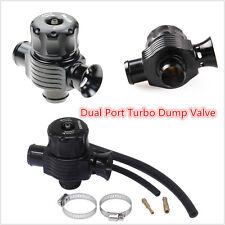 25mm Aluminum Dual Port Blow Off Turbo Bov Valve (BLACK) Diverter Dump Valve