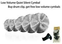 Low Volume Quiet Silent Cymbal Pack 5pcs Pack w/bag No Prints