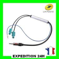 Amplificateur adaptateur d'antenne auto autoradio double FAKRA - DIN