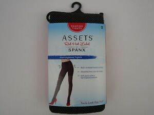 Assets by Spanx Herringbone Shaping Tights Misses Size 2  NEW Tourmaline Brown