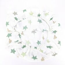 Aden + Anais Green White Elephant Stars Fitted Crib Sheet Muslin 100% Cotton