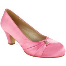 ba9c1c914 Pink No Doubt Wedding Shoes Ladies Low Mid HEELS Bridal Bridesmaid Party  Size 6