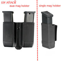 US Stock Single/Dual Magazine Holster Double Stack Mag Holder for 9mm to .45 Cal