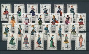 LN18642 Spain traditional clothing folklore fine lot MNH