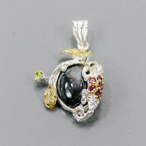 Handmade Blue Sapphire Pendant Silver 925 Sterling  /NP14321