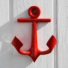 Anchor Shaped Wall Hook | Red Hook | Coastal Decoration