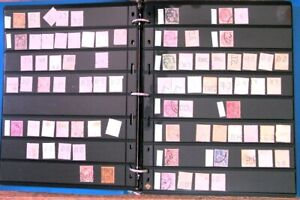 Perfin's Stamps Binder from France, Most Identified, all pages Pictured    (1)