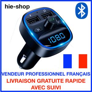 Transmetteur FM sans fil Bluetooth 5.0 Adaptateur MP3 Kit voiture Chargeur USB .