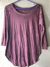 Jc Penney Arizona Juniors Tee Shirt Top 3/4 Sleeve Lace Size Medium