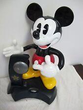 VINTAGE DISNEY ANIMATED TALKING  MICKEY MOUSE PHONE CORDLESS  TELEMANIA