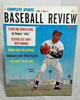 Complete Sports Baseball Preview Summer 1961 Magazine Willie Mays Mantle