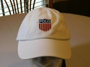 Mens Polo Ralph Lauren hat cap adjustable 083001 Chariots of Fire White NWT