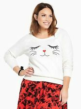 NWT Torrid Women's Plus 2 2X Cat Face Sweater (#16-5)
