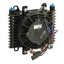 B & M 70298 Transmission Oil Cooler Medium Hi Tek Cooling System w/ Fan 590 CFM