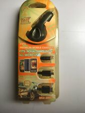 MOBILE CAR CHARGER NOKIA, SAMSUNG, ALL MICRO USB PHONES, 10' CORD, NEW (cbt)