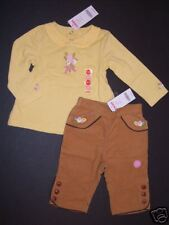 NWT Gymboree Equestrian Club 12-18 Months Corduroy Pants & Yellow Flower Top