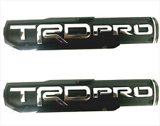 2X Tacoma Tundra TRD PRO Fender Side Tailgate Emblem Nameplate Badges NEW Black