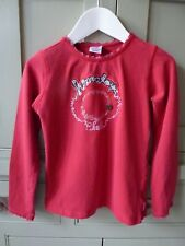 Cakewalk Girly Spirit red long sleeve t-shirt age 7-8 excellent condition