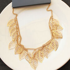 "Necklace Gift Fashion Women Party Jewelry 26"" New Forever21 Leaf Cluster Collar"
