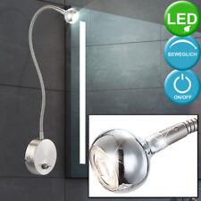 LED Wand Lampe Arbeits Zimmer Beleuchtung flexibel Chrom Kugel Schalter Leuchte