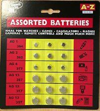 18 a à z assorted bouton cellule montre remote calculatrices jeux scellé piles