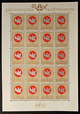Francobollo LIECHTENSTEIN Stamp - Yvert e Tellier n°463 x20 (En Feuillet) n (Y5)