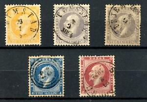 Norway 1856 Set fine used + SG6 total Cat £400+