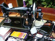 Antique Old Vintage Hand Crank & Electric  Singer sewing machine Model 99K