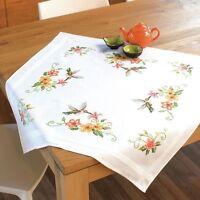 Vervaco - Tablecloth - Cross Stitch Kit - Hummingbird & Flowers - PN-0144089