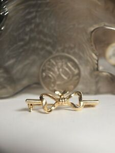 GENUINE / SOLID 750 YELLOW GOLD LADIES BOW BROOCH  !