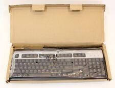New HP Black & Silver USB Wired Keyboard 434821-002 537746-001 KU-0316